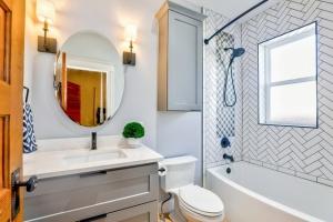 Do large porcelain slabs help a bathroom remodel in Charlotte NC?